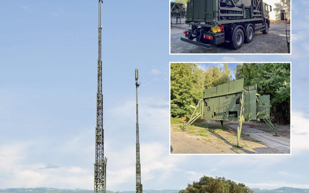 Entwicklung und Lieferung von verlegefähigen Antennen-containern für das Projekt Zellulare Netze Verlegefähig