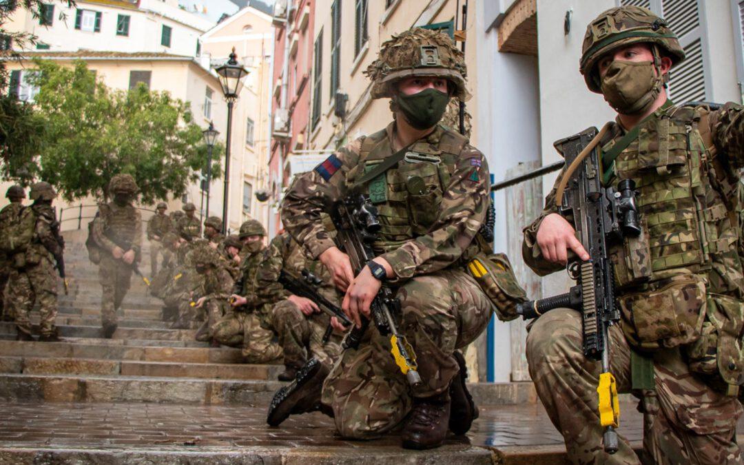 England trainiert Häuserkampf in Gibraltar