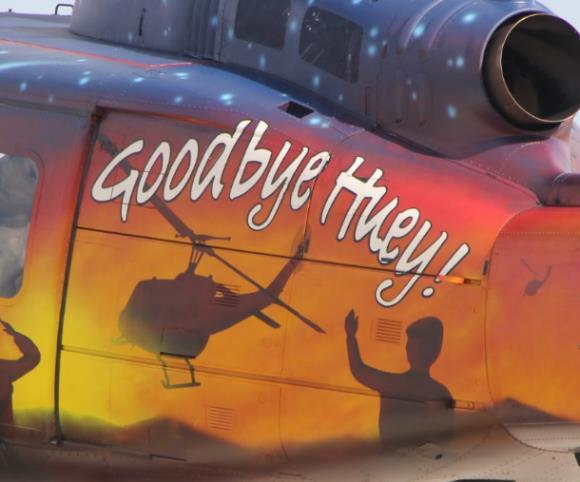 """Dienstzeitende für die Bell UH-1D """"HUEY"""" in der Bundeswehr"""