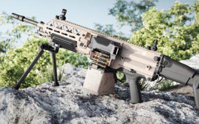 DSEI: FN zeigt erstmals das ultraleicht-Maschinengewehr FN EVOLYS live