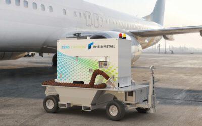 Weltpremiere: Rheinmetall stellt voll elektrisches Bodenstartgerät vor
